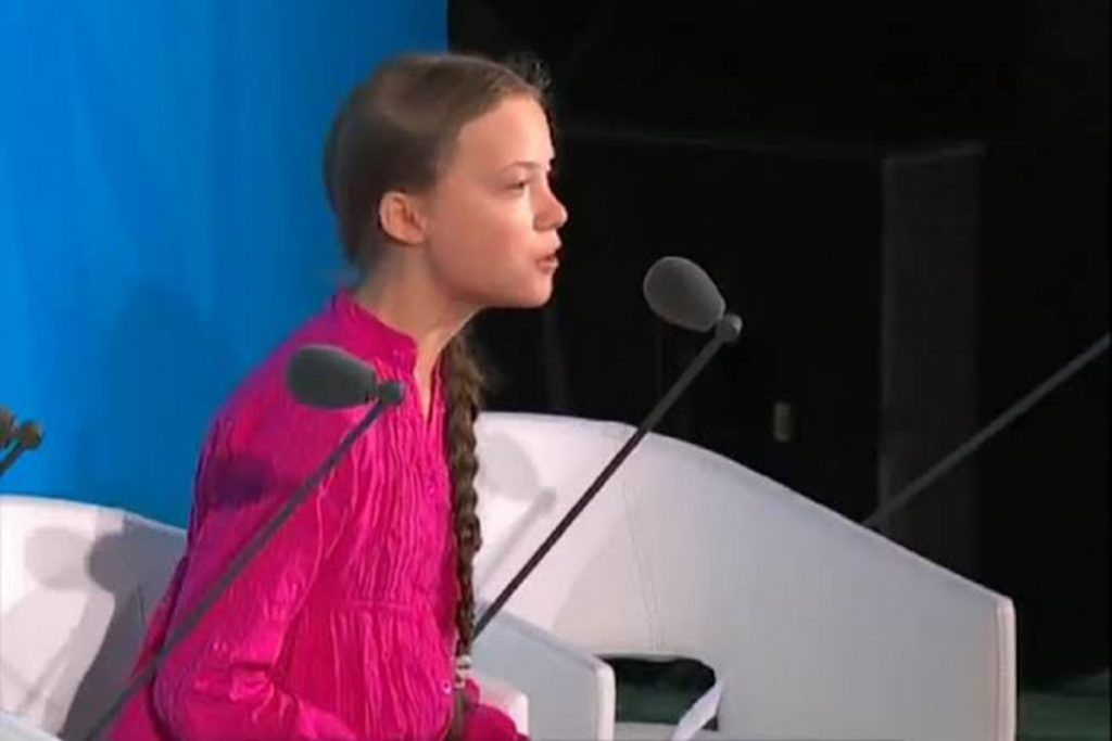 Greta addresses UN