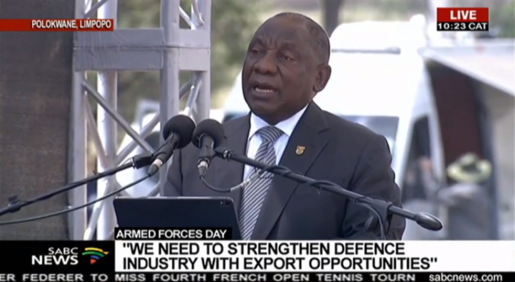 SA President speech Plant Trees Not Bombs Campaign